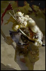 Orc warrior by Redan23