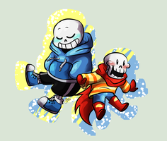 Lil Pap and Sans by HTF-ADTI-MLP100606