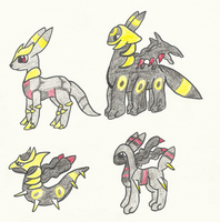 Umbreon/Giratina Fusion (1 Left) by PaintSet