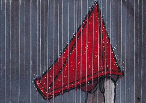 Pyramid Head - Rain practice by Yamallow