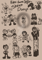 Video Game Sketch Dump by StartistMakesArt