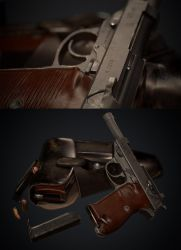 P38 and Holster by Akiba91
