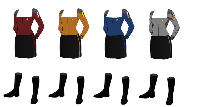 ISS Vanguard Female Officers Dress Uniform by docwinter