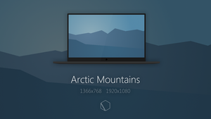 Arctic Mountains Wallpaper by TheButterCat