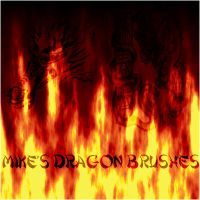 Dragon GIMP Brushes by michaelsboost