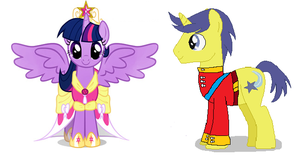Twilight Sparkle and Comet Tail (Royal Wedding) by 3D4D