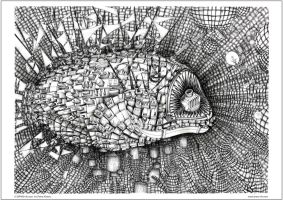 DENSITY the ANGLER FISH, whole in XS by DRAW-inkCOM
