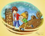 The Reckless Brothers' Childhood by Xyncomix
