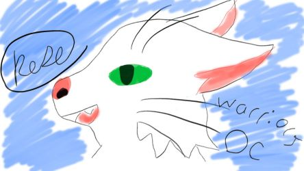 Warrior Cat: my horrible attempt at digital art xD by RoseWilt145