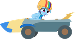 Rainbow Dash and her Go-Kart by Uponia