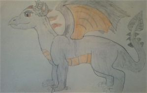 My dragon form (MLP) by Dracorider19