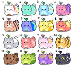 Catbeans! Batch 1 [CLOSED - Thanks!] by HopefulAdopts