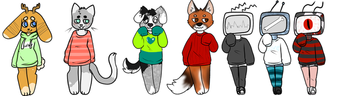 Sweater Weather Adopts   OPEN!!! (reduced) by SenketsuSan