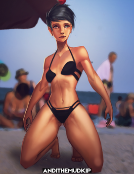 Beach Girl [NSFW Available] by AndiTheMudkip