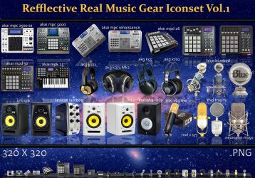 Refflective Real Music Gear Iconset Vol.1 by Dizntart