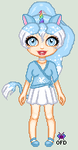 Gift: blknblupanther's Aolani by LavenderSeaFairy