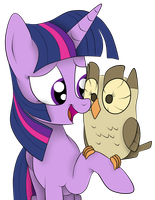 Twi and Her Owl by Squipy-Cheetah