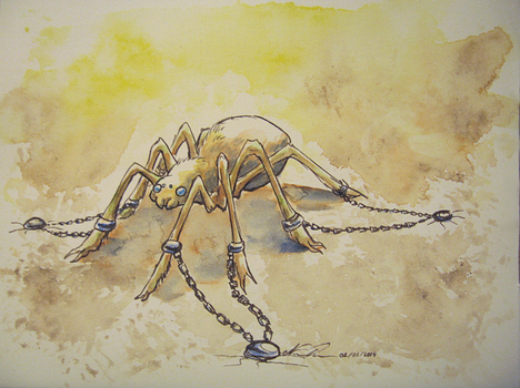 (Commission) Chained spider by Nuzma