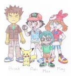 Ash, May, Max and Brock by TheAwesomeWorld