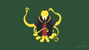 Korosensei Minimalist Assassination Classroom by Bakacowdesu