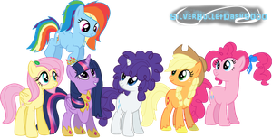 Future Mane Six (Updated Version) by SilverBulletDash9000