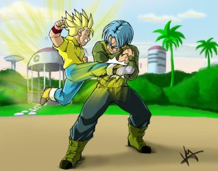 Dragonball Super - Trunks and Trunks by Rider4Z