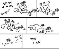 Story of my life by WolfArtC