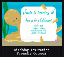 PARTY INVITATION - Friendly Octopus by PointyHat
