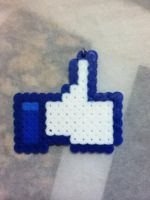 -Perler- Facebook Like Symbol by OtakuLuka