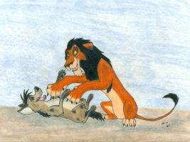 Scar and Shenzi by SocksTheMutt
