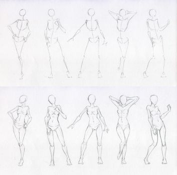 Sketches 48 - Woman standing practice 2 by AzizlaSwiftwind