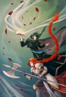 FE: Titania and Soren by AngelofDeathz