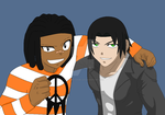 Collab-Samuel and Kevin, Pals by ShinanaEvangelian