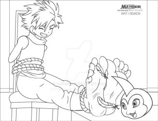 Matt Digimon - Comission Lineart by MayEsior
