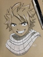 Natsu Dragneel on Toned Paper by B1093