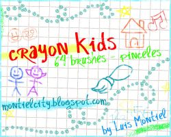Crayon Kids Brushes by Luis-Montiel