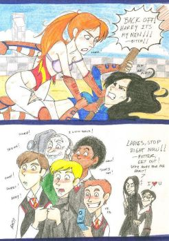 Cho vs Ginny in Quidditch by Minos336