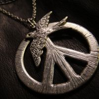 Peace + Flying Bird Necklace by Om-Society