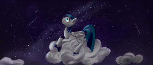 Under the starry sky by Weird--Fish