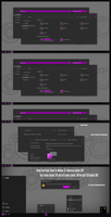 Numix Dark Purple Theme Win10 April 2018 Update by Cleodesktop