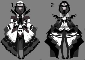 Monochromatic blind princes outfit adopts closed by AS-Adoptables