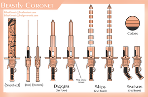 RWBY OC Weapon - Beastly Coronet by BlissClouds