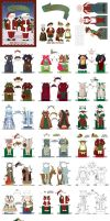 Santa and Mrs Claus: A Paper Doll Book by juliematthews