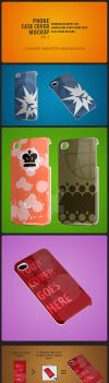 iPhone Case Cover Mockup pack by sktdesigns
