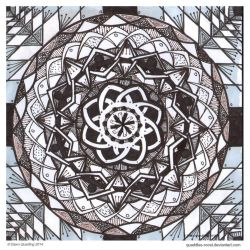 Fade To Black Mandala by Quaddles-Roost