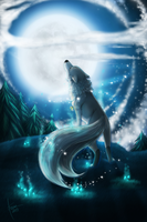 [AT] .: Feel the moon :. by ancarie-bluewolf