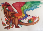 Rainbow griffin by Cosmic-Cola