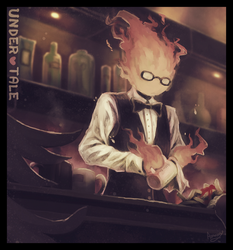 Grillby's by Amamidori