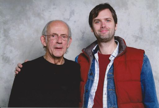 Christopher Lloyd and me by EgonEagle