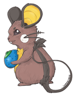 Shiny Dedenne X3 by Lumary92